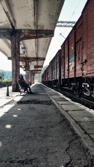 Estación de tren en Sighisoara. Fotografía de Borja Rivero