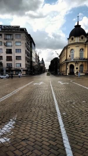 Bulevard Tsar Osvoboditel, Sofía. Fotografía de Borja Rivero